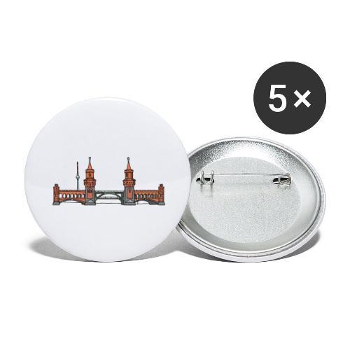 Oberbaum Bridge Berlin - Buttons large 2.2'' (5-pack)