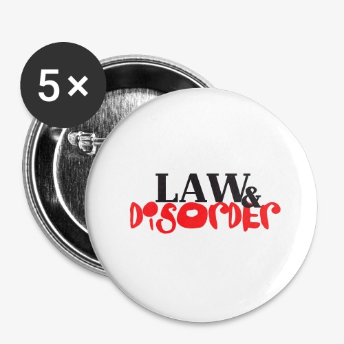 Law DISORDER Logo - Buttons large 2.2'' (5-pack)