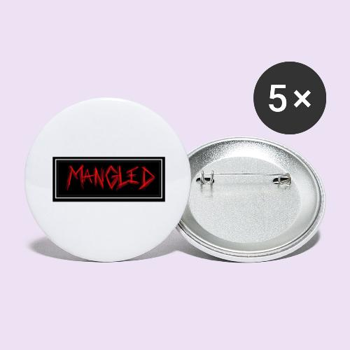 Mangled - Buttons large 2.2'' (5-pack)