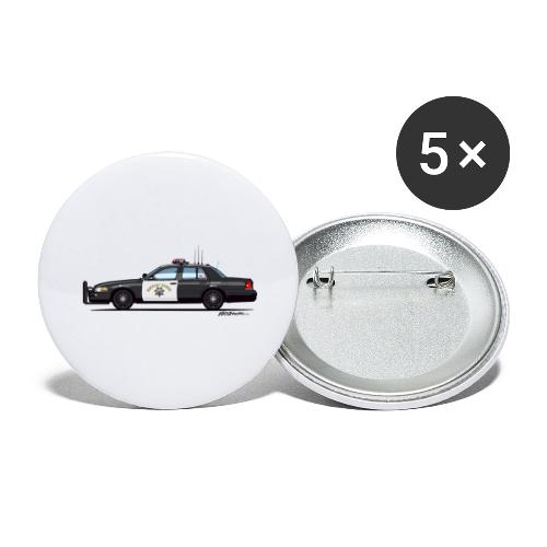 California Highway Patrol CHP Crown Vic (with - Buttons large 2.2'' (5-pack)