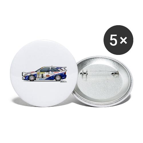 Ford Escort RS Cosworth Rally Monte Carlo - Buttons large 2.2'' (5-pack)
