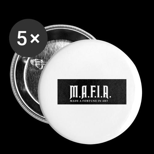 Classic Mafia Logo Black - Buttons large 2.2'' (5-pack)