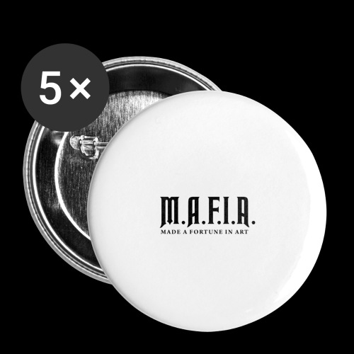Classic Mafia Logo(White) - Buttons large 2.2'' (5-pack)