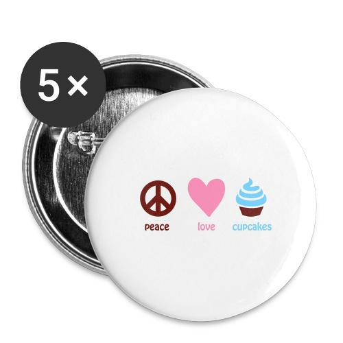 peacelovecupcakes pixel - Buttons large 2.2'' (5-pack)