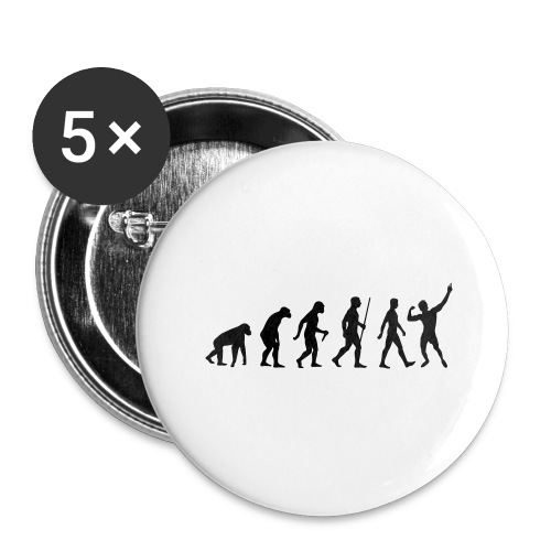 Evolution of Zyzz - Buttons large 2.2'' (5-pack)
