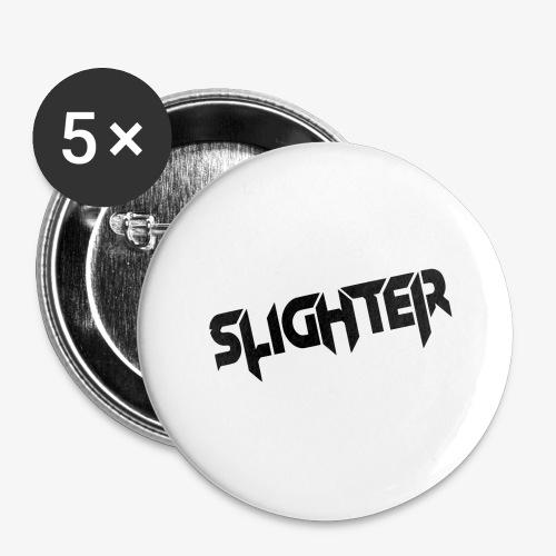 Slighter Black Logo - Buttons large 2.2'' (5-pack)