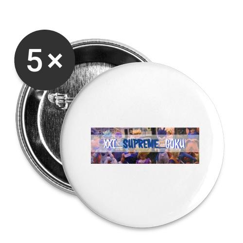 XXI SUPREME GOKU LOGO 2 - Buttons large 2.2'' (5-pack)