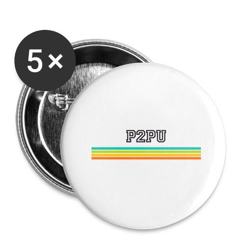 striped mug black logo png - Buttons large 2.2'' (5-pack)