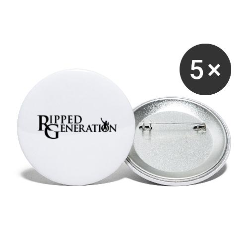 Ripped Generation Simple Logo - Buttons large 2.2'' (5-pack)