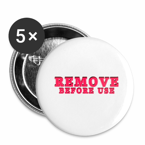Remove Before Use for light - Buttons large 2.2'' (5-pack)