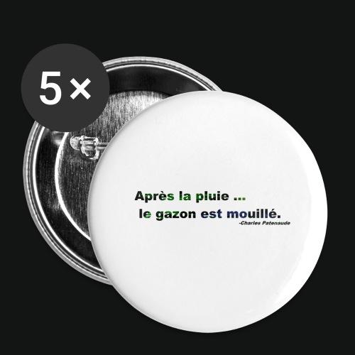 WET GRASS - Buttons large 2.2'' (5-pack)