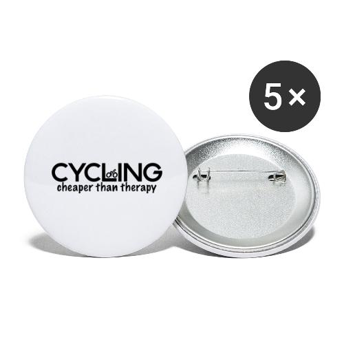 Cycling Cheaper Therapy - Buttons large 2.2'' (5-pack)