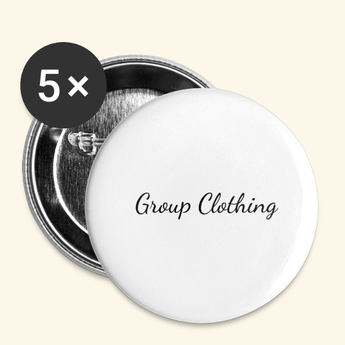 Cursive Black and White Hoodie - Buttons large 2.2'' (5-pack)