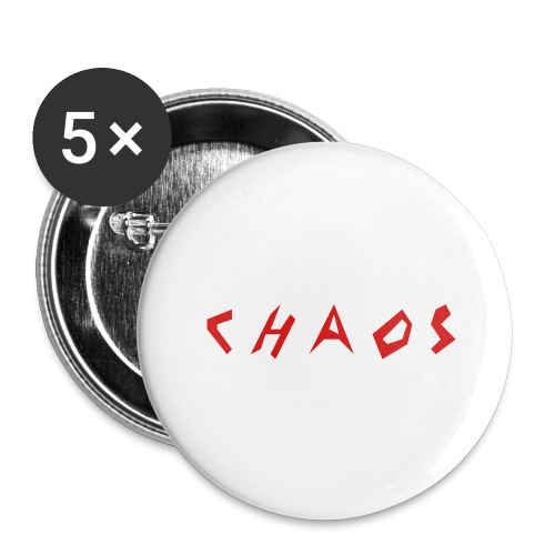C H A O S Baseball Cap - Buttons large 2.2'' (5-pack)