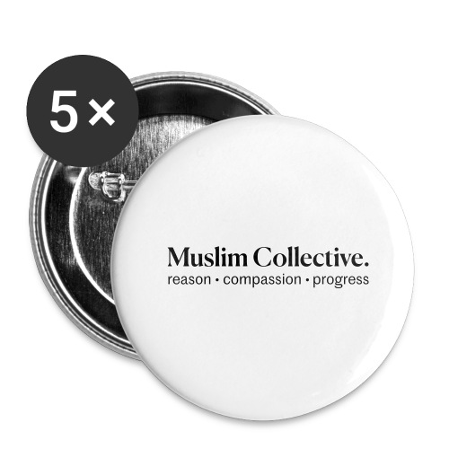 Muslim Collective Logo + tagline - Buttons large 2.2'' (5-pack)