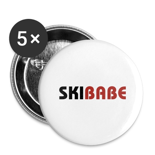 Ski Babe - Buttons large 2.2'' (5-pack)