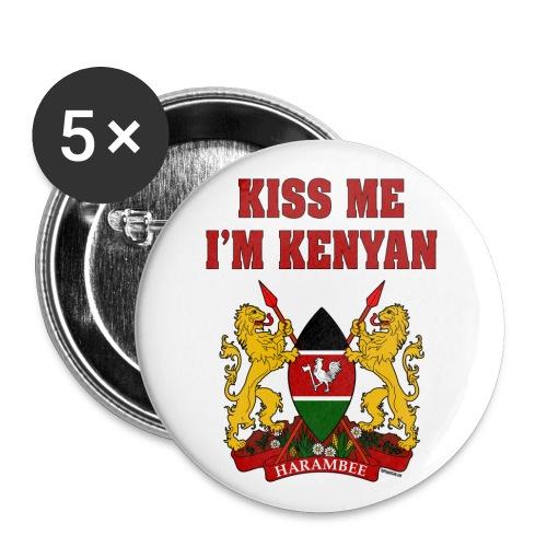 Kiss Me, I'm Kenyan - Buttons large 2.2'' (5-pack)