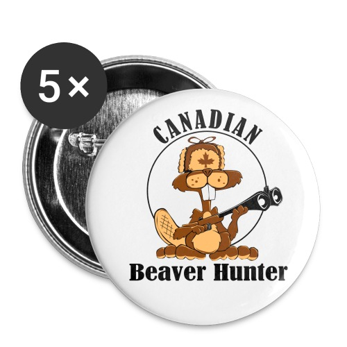 Canadian Beaver Hunter - Buttons large 2.2'' (5-pack)