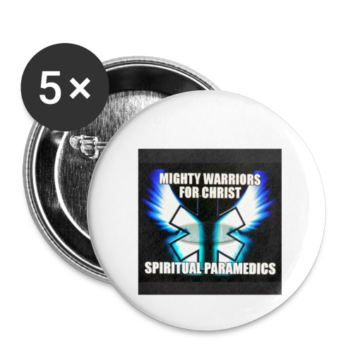 MightyWarrior PrayAnytime White - Buttons large 2.2'' (5-pack)