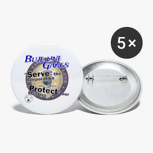 Thin Blue Line - To Serve and Protect - Buttons large 2.2'' (5-pack)