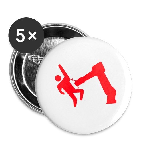 Robot Wins - Buttons large 2.2'' (5-pack)