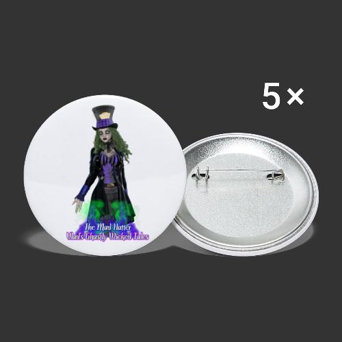 Ghastly Wicked Tales: The Mad Hatter - Buttons large 2.2'' (5-pack)