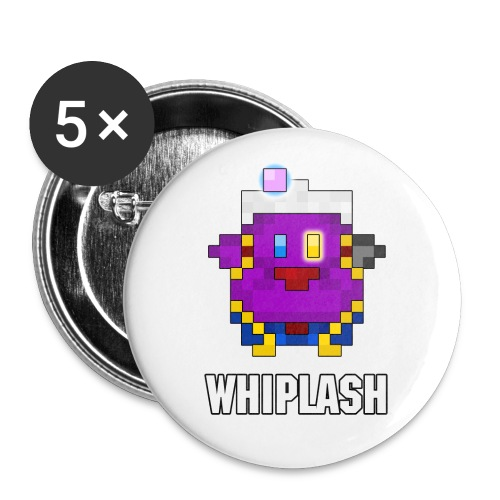 WhiplashEmblemText - Buttons large 2.2'' (5-pack)