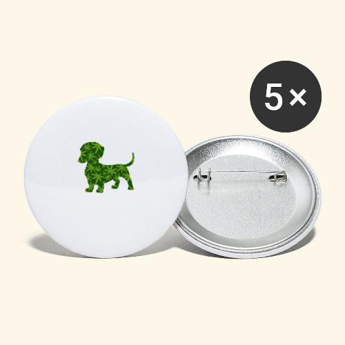 PUFFY DOG - PRESENT FOR SMOKING DOGLOVER - Buttons large 2.2'' (5-pack)