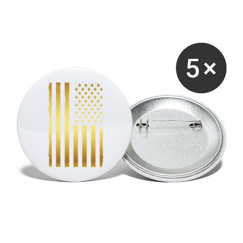 Golden american flag - Buttons large 2.2'' (5-pack)