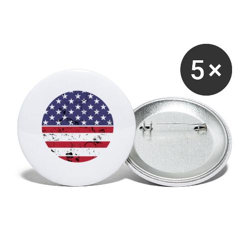 American flag full circle red white blue - Buttons large 2.2'' (5-pack)