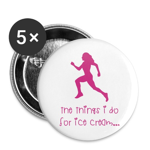 icecream - Buttons large 2.2'' (5-pack)