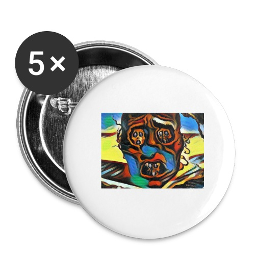 Dali Visage - Buttons large 2.2'' (5-pack)