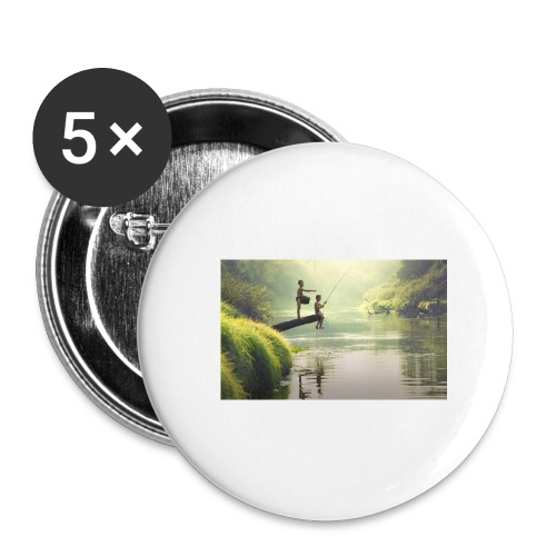 fishing - Buttons large 2.2'' (5-pack)