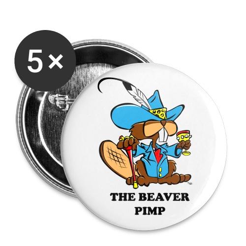 Beaver Pimp - Buttons large 2.2'' (5-pack)