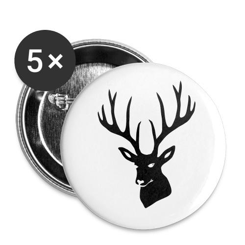 stag night deer buck antler hart cervine elk - Buttons large 2.2'' (5-pack)