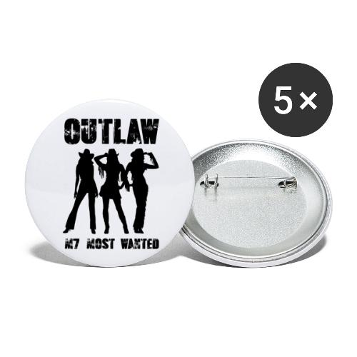 Outlaws - Buttons large 2.2'' (5-pack)
