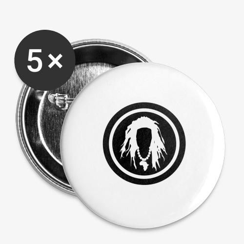 Black circle logo - Buttons large 2.2'' (5-pack)