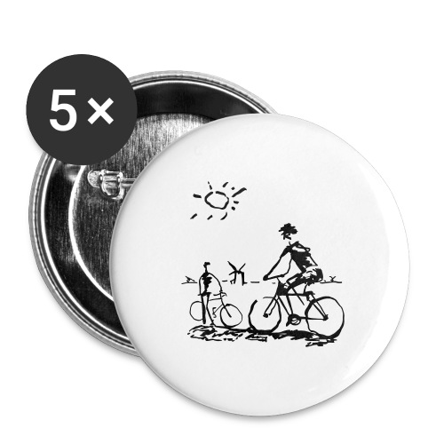 Bicycle Bicycling Picasso - Buttons large 2.2'' (5-pack)