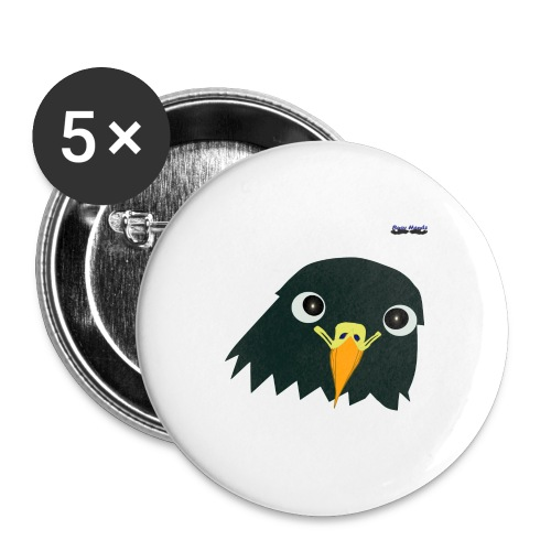 Busyhandz classic eagle kid's premium T. shirt - Buttons large 2.2'' (5-pack)