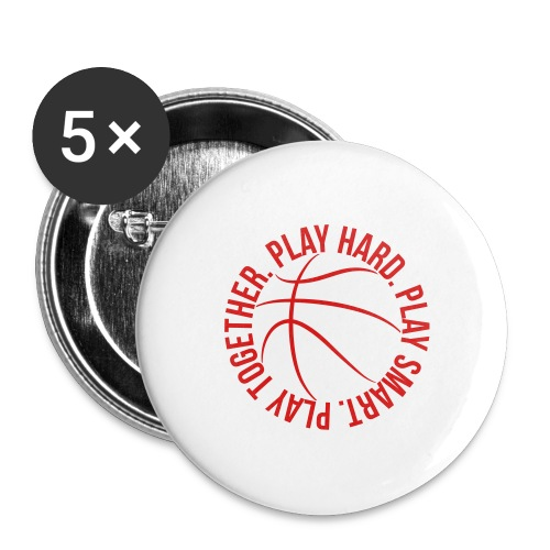 play smart play hard play together basketball team - Buttons large 2.2'' (5-pack)