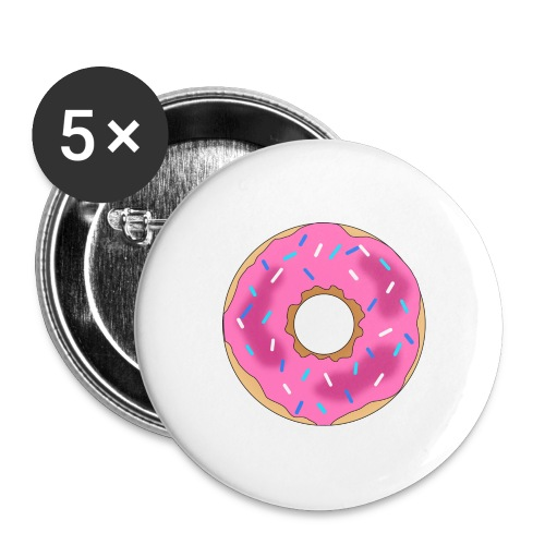 Donut - Buttons large 2.2'' (5-pack)