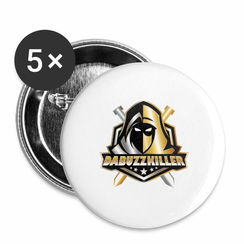 dabuzzkiller official logo - Buttons large 2.2'' (5-pack)