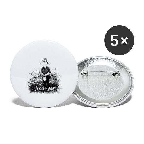 Fresh Air - Buttons large 2.2'' (5-pack)