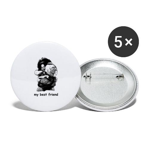 My best friend (girl) - Buttons large 2.2'' (5-pack)