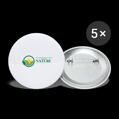 What is the NATURE of NATURE? It's MANUFACTURED! - Buttons large 2.2'' (5-pack)