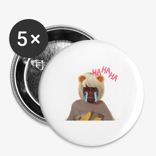 CJ Toys Ha Ha Ha - Buttons large 2.2'' (5-pack)