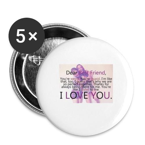 Cute best friends - Buttons large 2.2'' (5-pack)