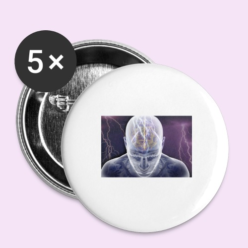 Brain storm - Buttons large 2.2'' (5-pack)