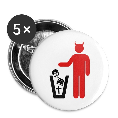 American Satanist - Buttons large 2.2'' (5-pack)