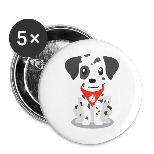 Sparky the FHIR Dog - Children's Merchandise - Buttons large 2.2'' (5-pack)